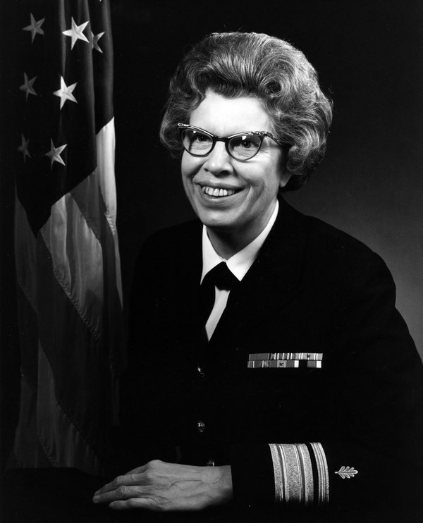 Official portrait of Rear Adm. Alene B. Duerk. The first woman to attain the rank of admiral passed away in July at the age of 98. (Navy)